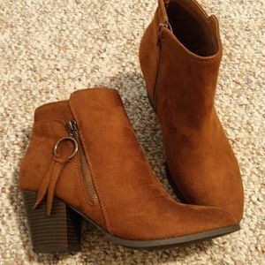 New Suede Brown Ankle Boots